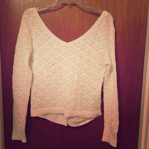 Open knit see-through sweater